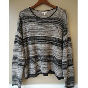 Eileen Fisher Abstract Stripe Sweater EUC Size XL